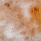image of condensation  - Fresh pils beer with froth and condensed water pearls - JPG