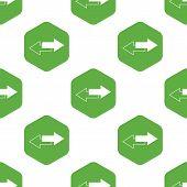 stock photo of opposites  - Image of two straight opposite arrows in hexagon - JPG