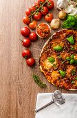 picture of hot fresh pizza  - Cheese pizza with fresh tomato and chilli basil hot spicy sause - JPG