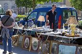 foto of hunters  - CHARTRES, FRANCE - May 10: The 19th meeting of bargain hunters Antiques - Bargain May 10, 2015 - JPG