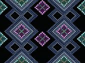 foto of beads  - Seamless pattern modern texture abstract background with beads textile - JPG