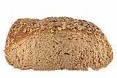stock photo of whole-grain  - Whole grain bread isolated on white background - JPG