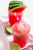 picture of refreshing  - Delicious and refreshing watermelon and lime drink - JPG