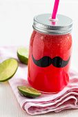 pic of refreshing  - Delicious and refreshing watermelon and lime drink - JPG