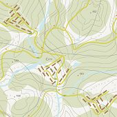 picture of longitude  - Topographic map of territory with rivers - JPG