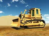 foto of bulldozer  - Computer generated 3D illustration with a Bulldozer - JPG