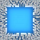 stock photo of maze  - Maze with blank space - JPG