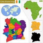 pic of yamoussoukro  - Administrative division of the Republic of Cote dIvoire - JPG