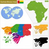 picture of guinea  - Administrative division of the Republic of Guinea - JPG
