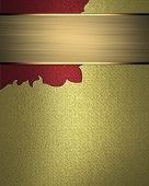 picture of nameplates  - Gold background with a pattern in the corner and gold nameplate - JPG