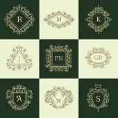 picture of monogram  - Set of Line Monograms - JPG