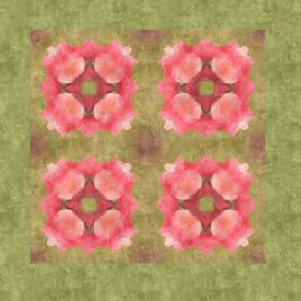 stock photo of parallelepiped  - background pattern made from piece of flower in vintage style created from filter technique - JPG