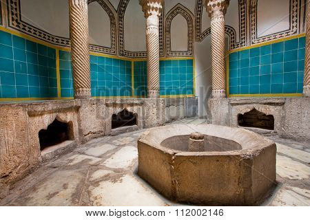 Old Hamam Bath In Oriental Style With Columns