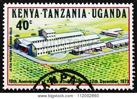 Postage Stamp K., U. And T. 1973 Tea Factory, Nandi Hills