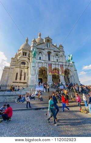Basilica of the Sacred Heart, Sacre Coeur in Montmartre, Paris, France