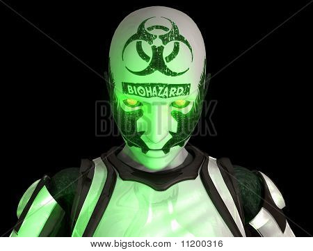 Bio warfare cyborg soldier
