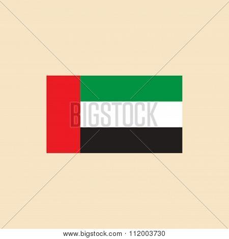 flat icon on white background Flag Arab Emirates