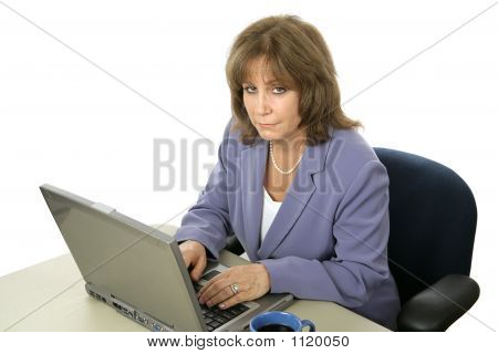 Female Executive Working Late
