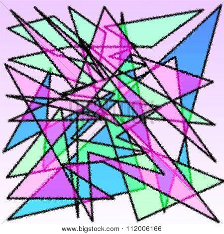 cubism style art draw