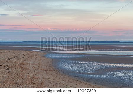 Inverloch Foreshore Beach At Pink Sunset, Australia