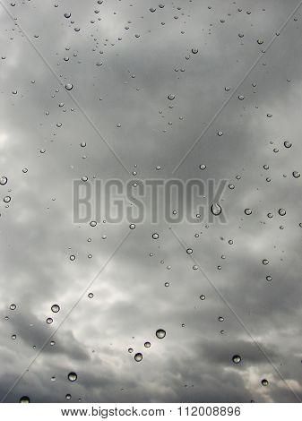 window with raindrops