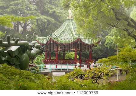 Asian Gazebo At Ding Xiang Garden