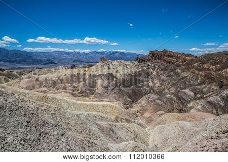 Zabriskie Point Panorama Death Valley
