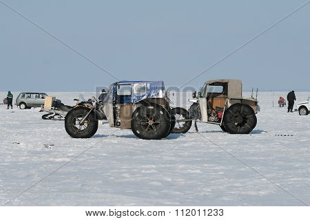 Winter fishing in Siberia
