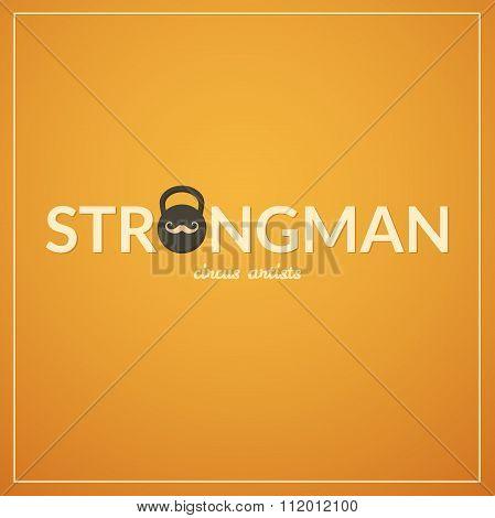 Strongman logo, vector illustration