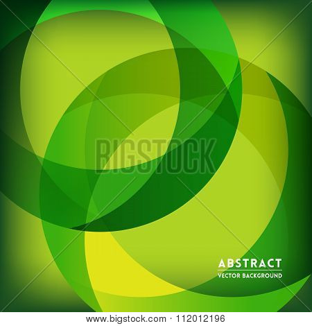 Green Abstract Circle Shape Background