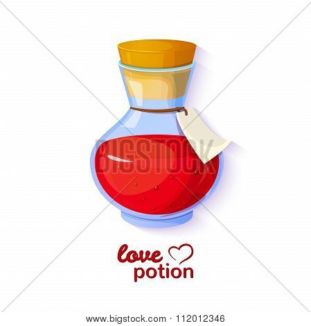 Love potion, vector illustration