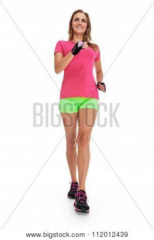 slim Runner woman full length