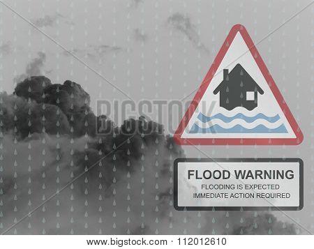 Red flood warning