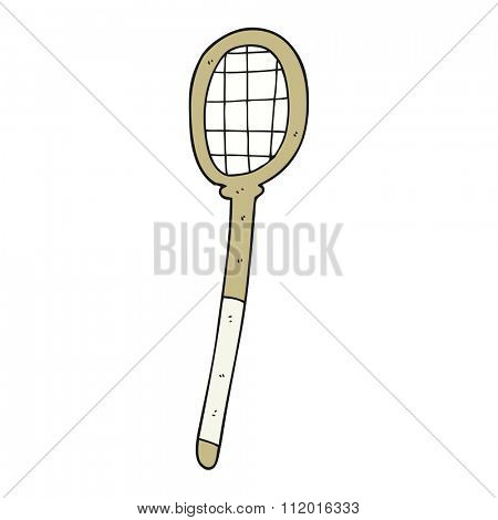 freehand drawn cartoon tennis racket