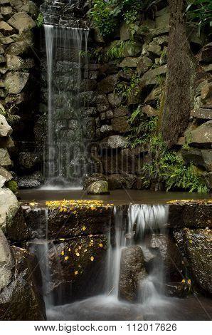 Waterfall At Alfred Nicholas Memorial Gardens