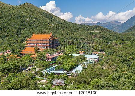 Po Lin Monastery On Lantau Island, Hong  Kong