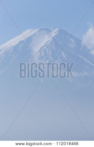 Closeup Mt.Fuji with clear blue sky