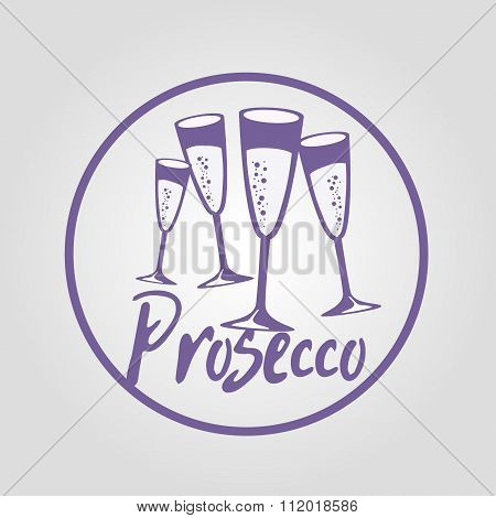 four glasses of Prosecco