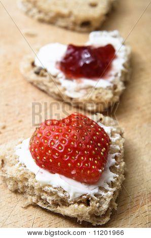 Valentines Bread Snacks