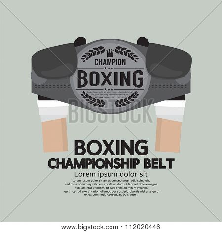 Boxing Championship Belt.