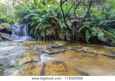 Leura Falls Upper Section, Blue Mountains, Australia