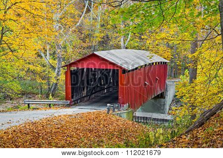 Autumn At Rolling Stone Covered Bridge