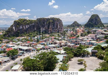 Da Nang, Vietnam - Circa August 2015: Moc Son, Hui Son, Kim Son Mountains, Marble Mountains, Vietnam