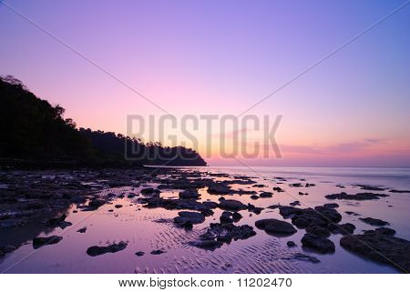 Seascape Of Koh Rok Island At Sunrise, Krabi, Thailand