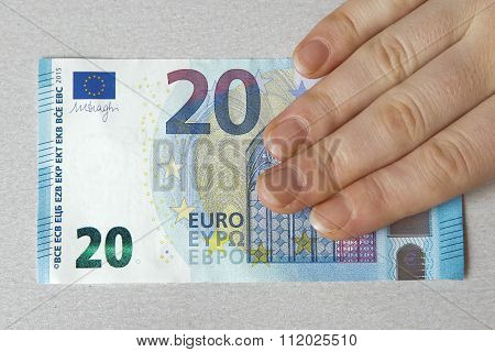 New Twenty 20 Euro Banknote Greenback Paper Money Issue 2015