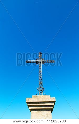 Catholic     Abstract   Cross  And The  Background