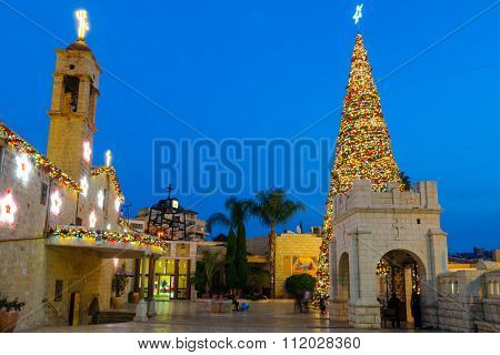 Christmas In Mary's Well Square, Nazareth