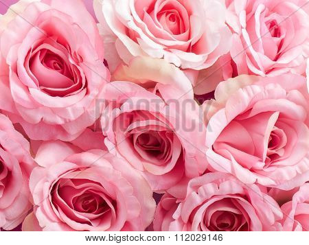 Group Of Plastic Roses