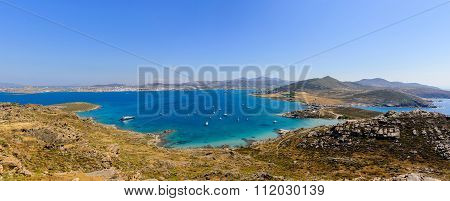 The Picturesque Coast Of The Greek Island Of Paros
