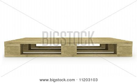 Wooden Pallet Side View